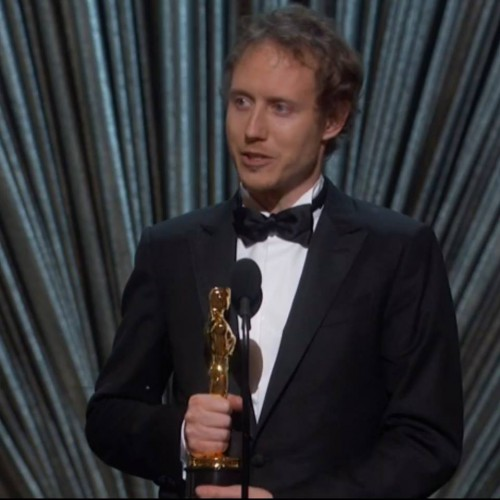 Nemes Jeles László az Oscar-díjjal