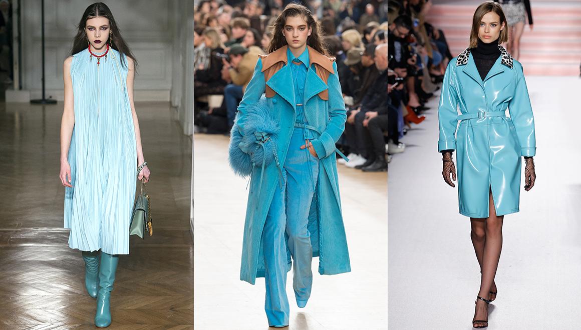 Színes trendek télen/türkiz Forrás: Vogue